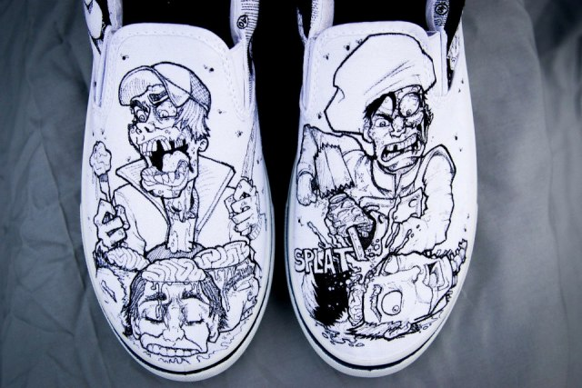 Zombie Chef Designer Shoes by Nick Forte