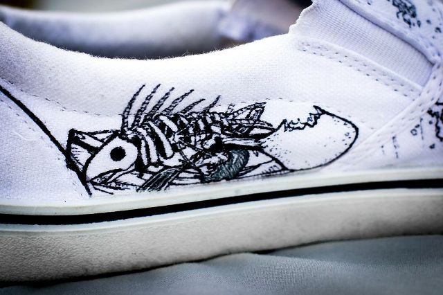 Zombie Fruits & Vegetables designer left inside shoe by Nick Forte