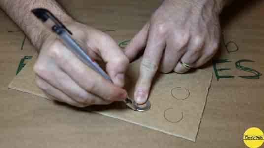 trace cardboard circles