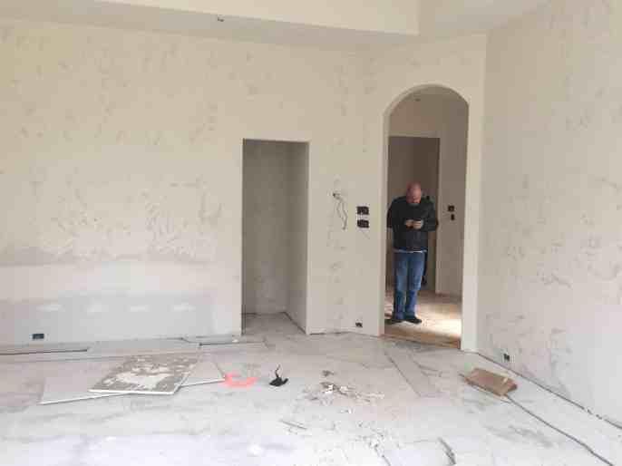 The Hidden Closet during Construction