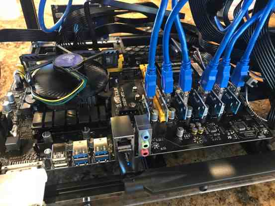 Tour of my Mining Rig 0003 - Biostar TB250-BTC Motherboard