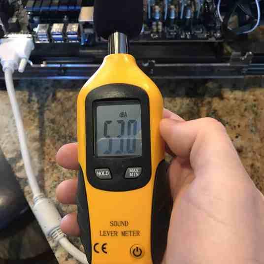 Tour of my Mining Rig 0014 - Decibel Meter