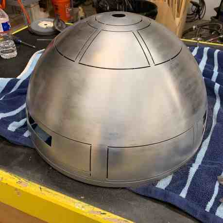Building R2-D2 - An Introduction 0003 - Sanding with Steel Wool