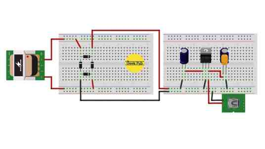 Bridge Rectifier Circuit Diagram Fritzing