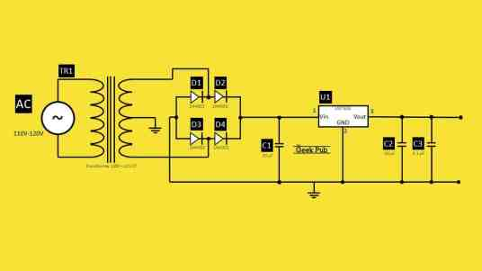 USB Charger Circuit Schematic