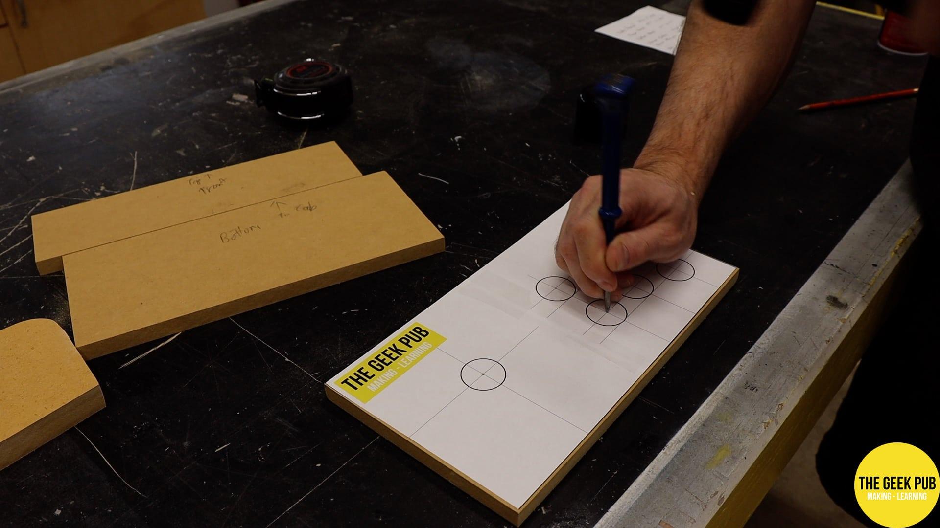 Assembling the control panels