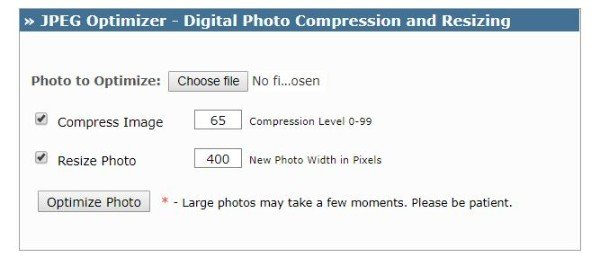 JPEG Optimizer Image Optimizer
