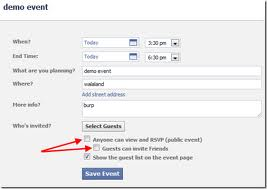 how to make an event on facebook not private