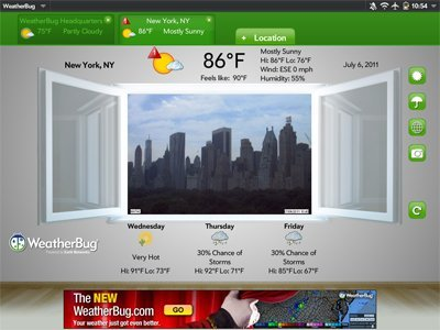 WeatherBug for HP TouchPad