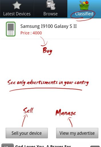 Sell your device tab