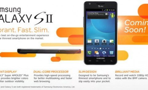 Samsung Galaxy S II AT&T Says Coming Soon, Page Goes Live