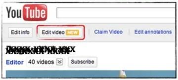 edit video in youtube
