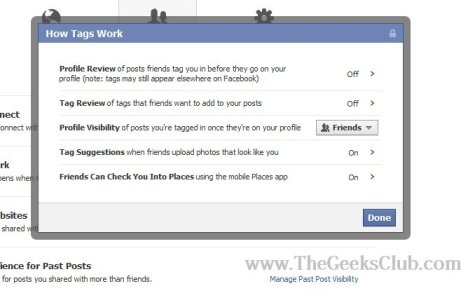 facebook profile privacy control
