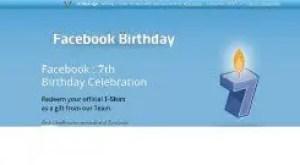 [Facebook Scam] Get free Facebook T-Shirt on 7th Birthday