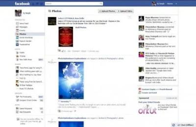 Facebook Website Design from 2004-2011