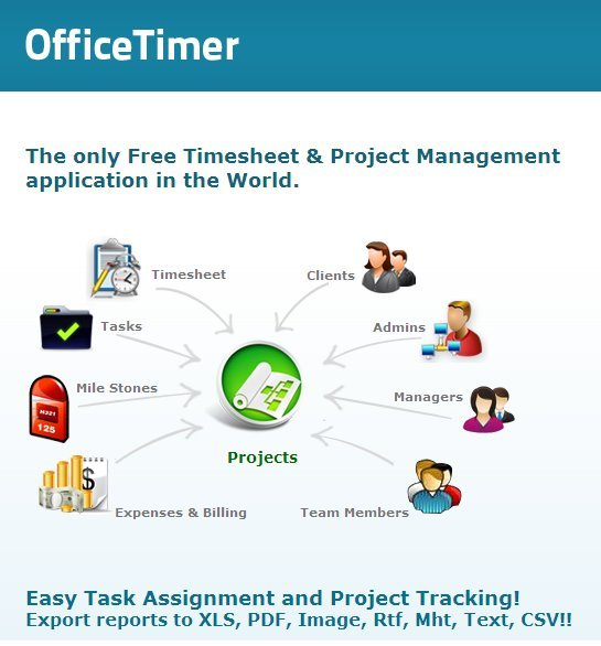 officetimer free timesheet project management application