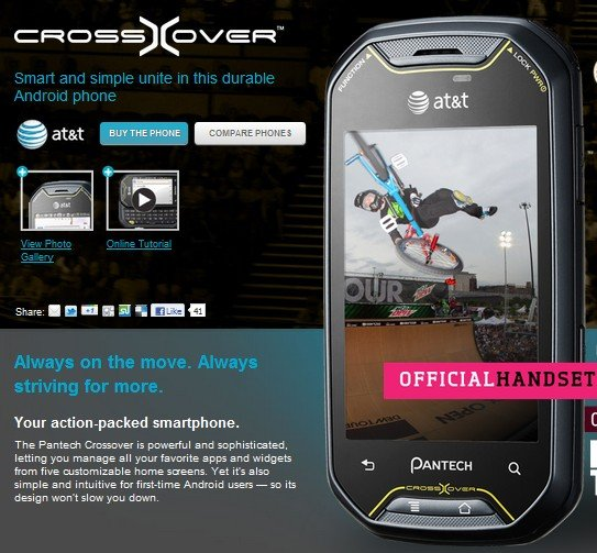 Pantech Crossover