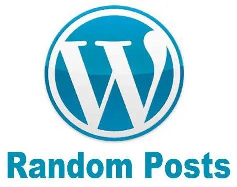 display wordpress random posts