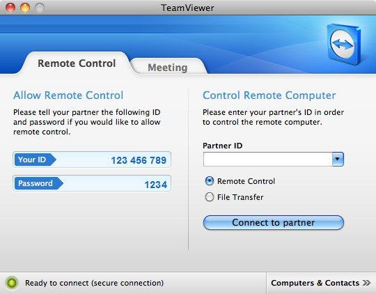 TeamViewer 7 for Mac OS X