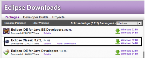eclipse ide for android download for windows 7 32 bit