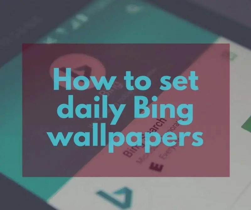 download bing wallpaper app