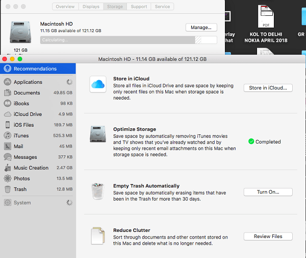 Free up Disk Space on Macbook