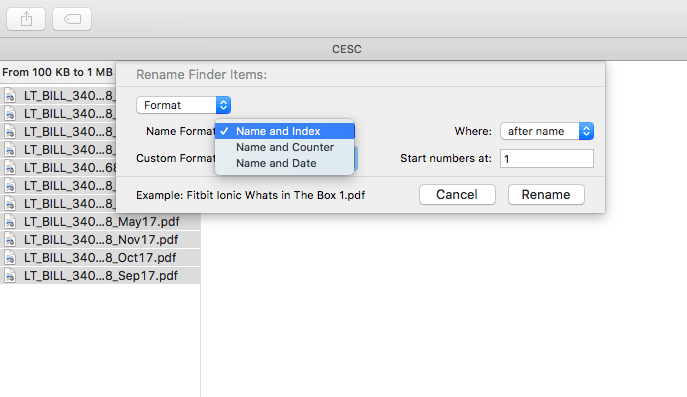 rename multiple files in Mac OS X