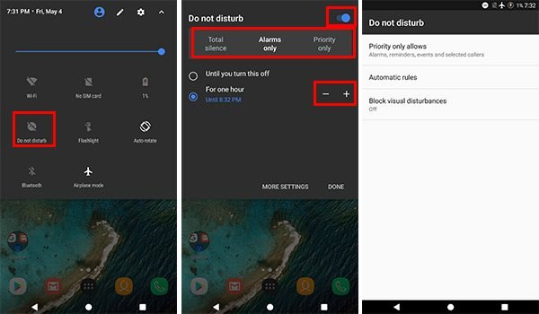 How to Configure DND Profiles on Android OREO