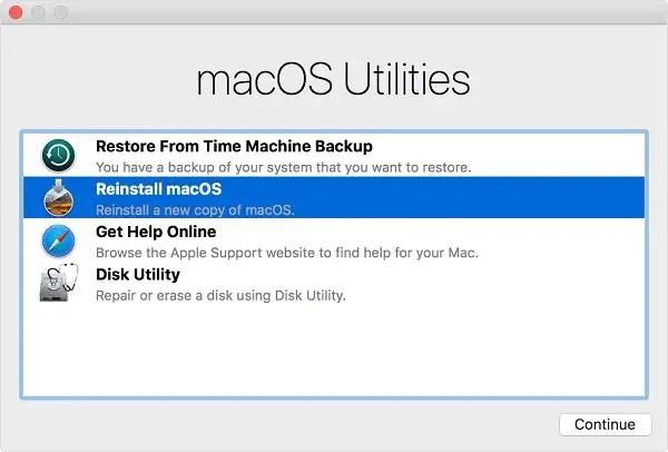 hard reset MacBook Pro or Air