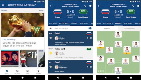 Best Apps to follow Fifa World Cup Football