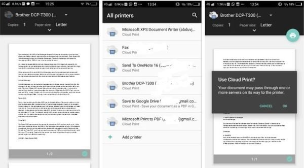 print to Wired Printer from Android
