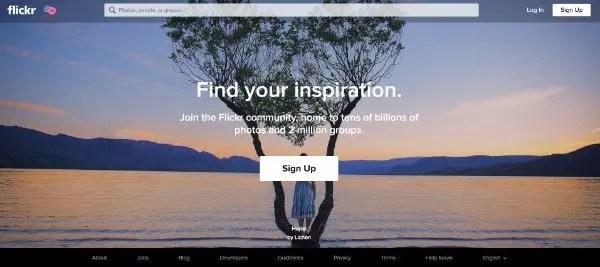 Flickr Image Sharing Website