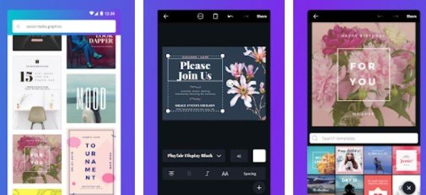 Canva Poster banner card maker and graphic design app for Android