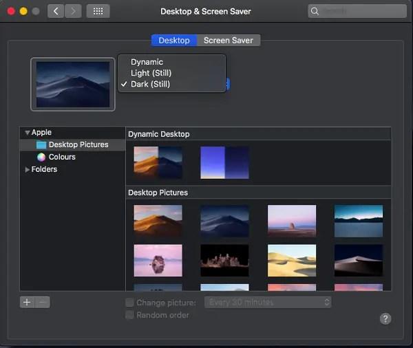 mac dark mode