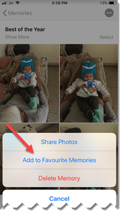 Add Images to memories