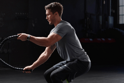 begin workout with Apple Watch