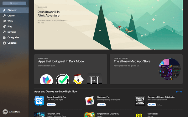 Redesigned Mac App Store