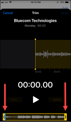 Time voice memos in iPhone