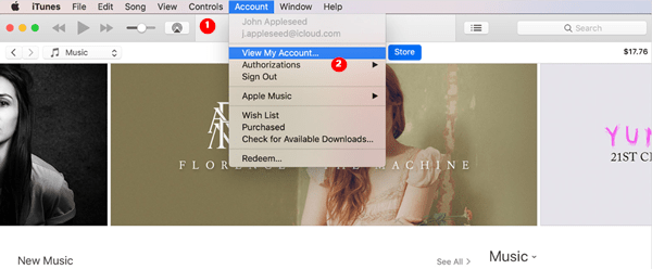 Cancel Apple Music subscription through iTunes