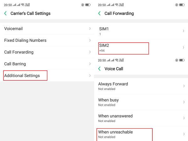 Activate call forwarding and waiting in RealMe Phones with