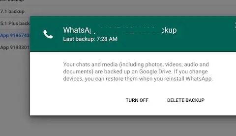 WhatsApp Online Backup