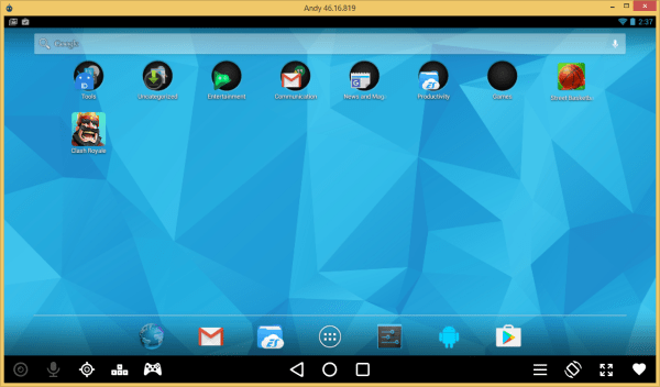 Andy OS Android Emulator for Linux
