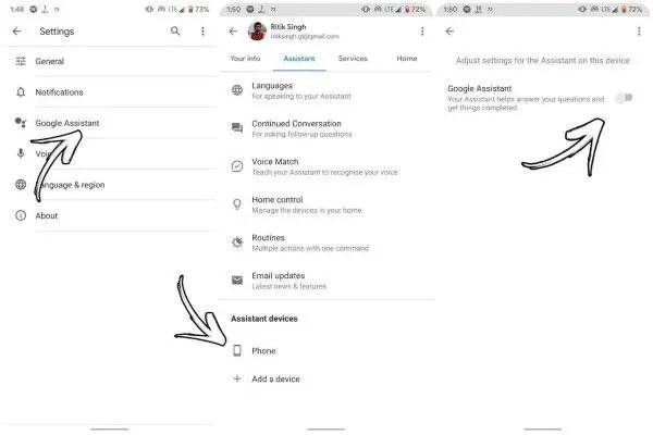 Enabling Google Assistant