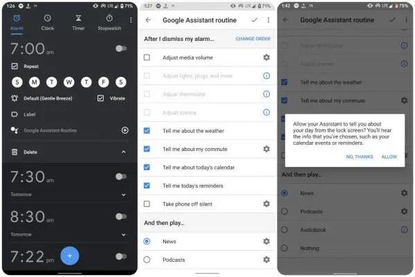 Google Clock and Assistant integration
