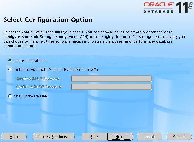 [Select Configuration Option]