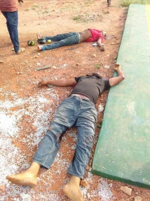 KOGI STATE: 1 CIVILIAN, 7 POLICEMEN, DPO, KILLED IN BANK ROBBERY{VIDEO/PHOTOS}