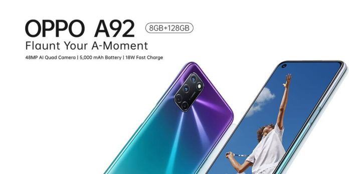 BREAKING: OPPO Mobile Launches The Powerful OPPO A92 In Nigeria