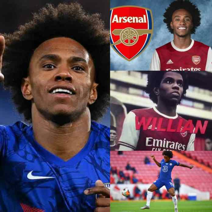 BREAKING: Chelsea #Willian Borges 'Agrees £100,000 Per Week' To Join Arsenal