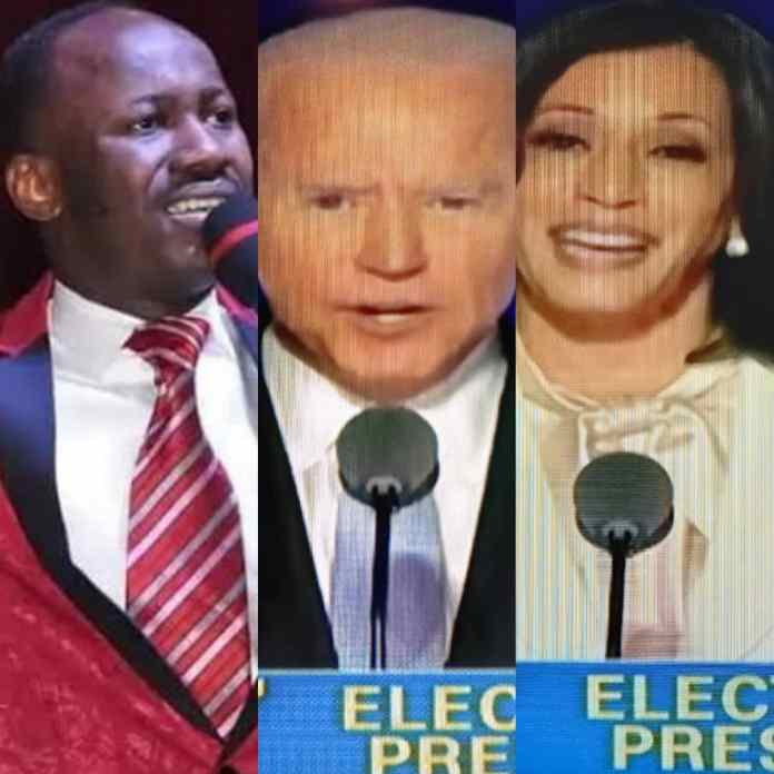 REVEALED! How Apostle Suleiman Gave A Detailed Prophesy About Trump's Defeat And America's First Females VP - #BidenHarris2020 [VIDEO]