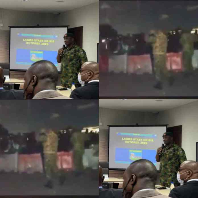 #LekkiMassacre: Why We First Denied Our Personnel Were At The Lekki Tollgate, Says Army In A Trending Video